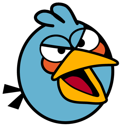 400x418 How To Draw Blue Bird From Angry Birds With Simple Step