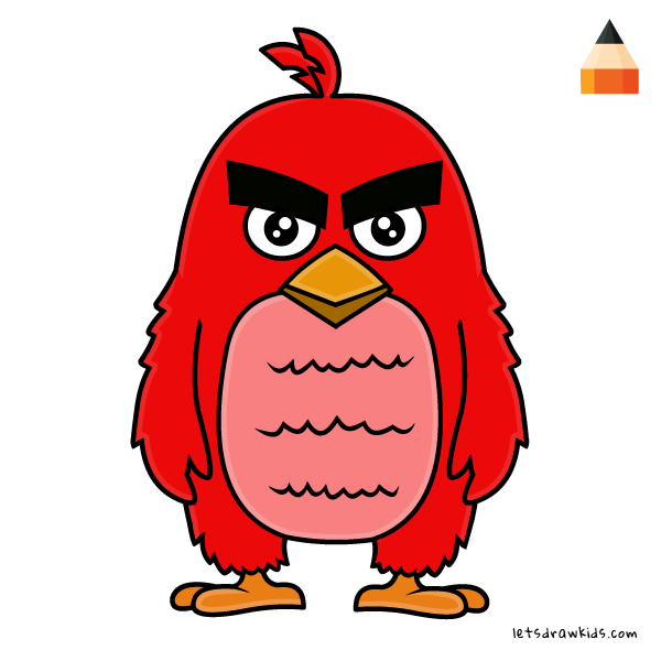 600x600 Huge Collection Of 'red Angry Bird Drawing' Download More Than
