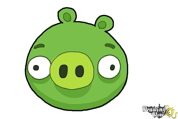 600x400 How To Draw Angry Birds Pig