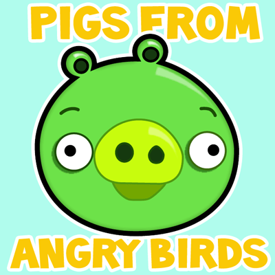400x400 How To Draw Green Pig From Angry Birds Game In With Easy Step