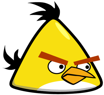 400x367 How To Draw Yellow Angry Bird With Easy Step