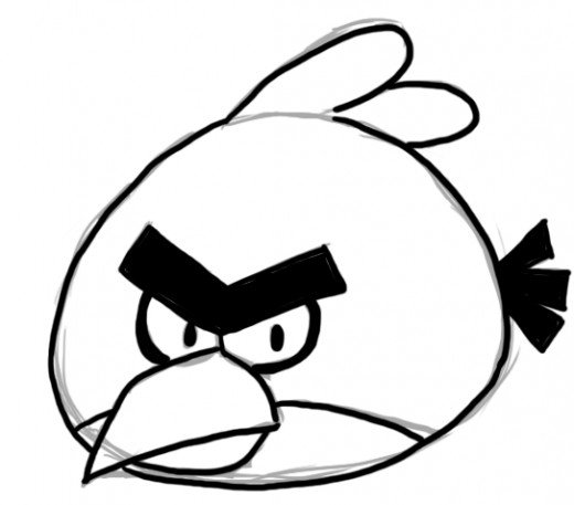 520x457 How To Draw Angry Birds Feltmagnet