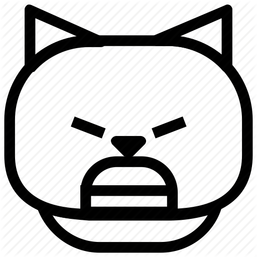 512x512 Angry, Cat, Emoticon Icon