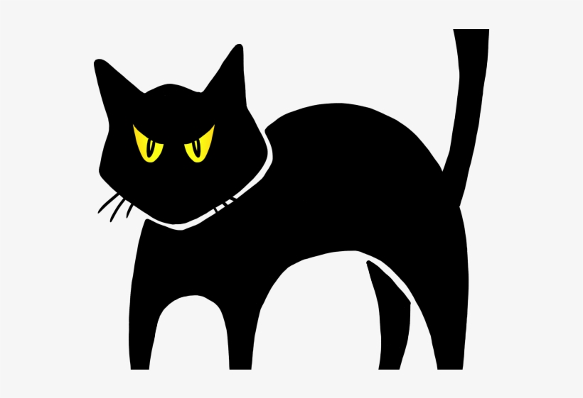 820x561 Black Cat Clipart Angry