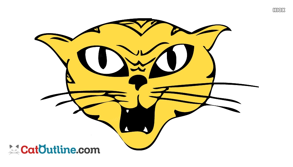 934x534 Angry Cat Face Drawing