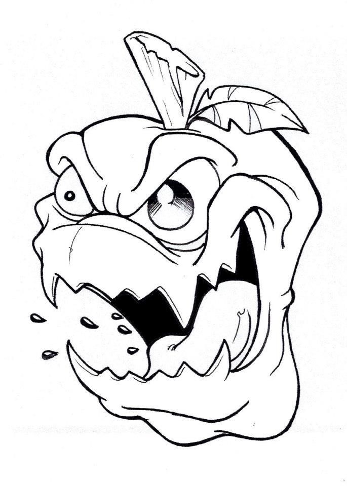 Angry Mouth Drawing