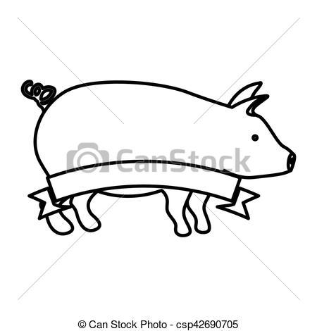 450x470 isolated pork design pork icon animal farm life nature