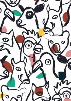 Animal Print Drawing