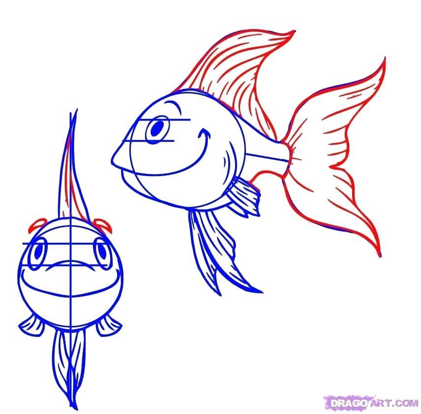 856x842 Fish Cartoon Drawing Adorable Fish Cartoon Drawing Vinyl Decal