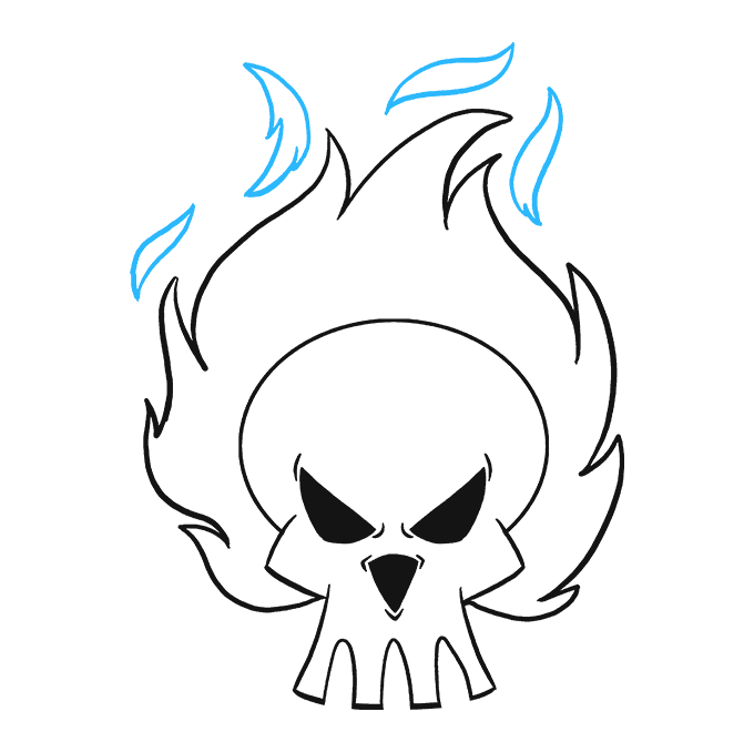 680x678 How To Draw A Flaming Skull