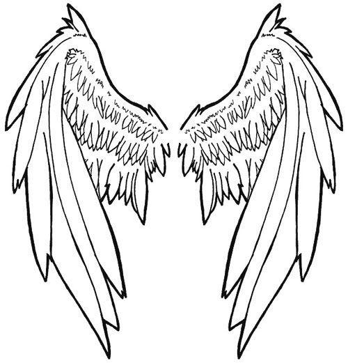 500x521 angel wings tattoo stencils tattoo stencils, tattoos, tattoo
