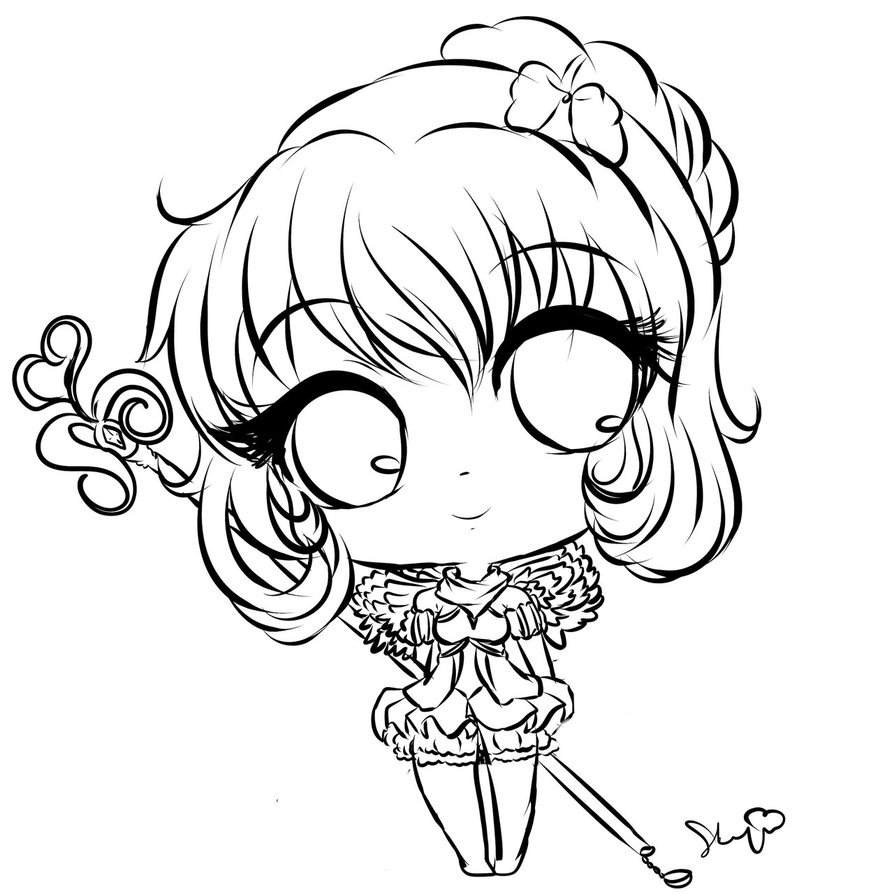 894x894 chibi outline drawing anime outline drawing anime drawing outline