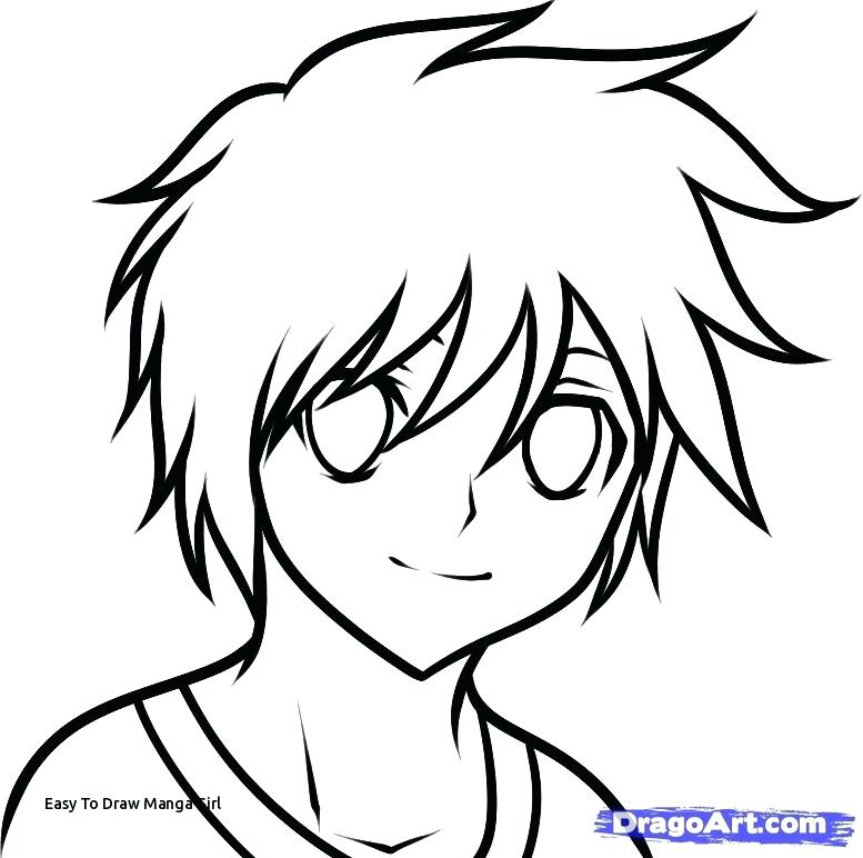 777x772 Anime Easy Drawings
