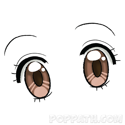 512x512 How To Draw Anime Eyes Style Pop Path