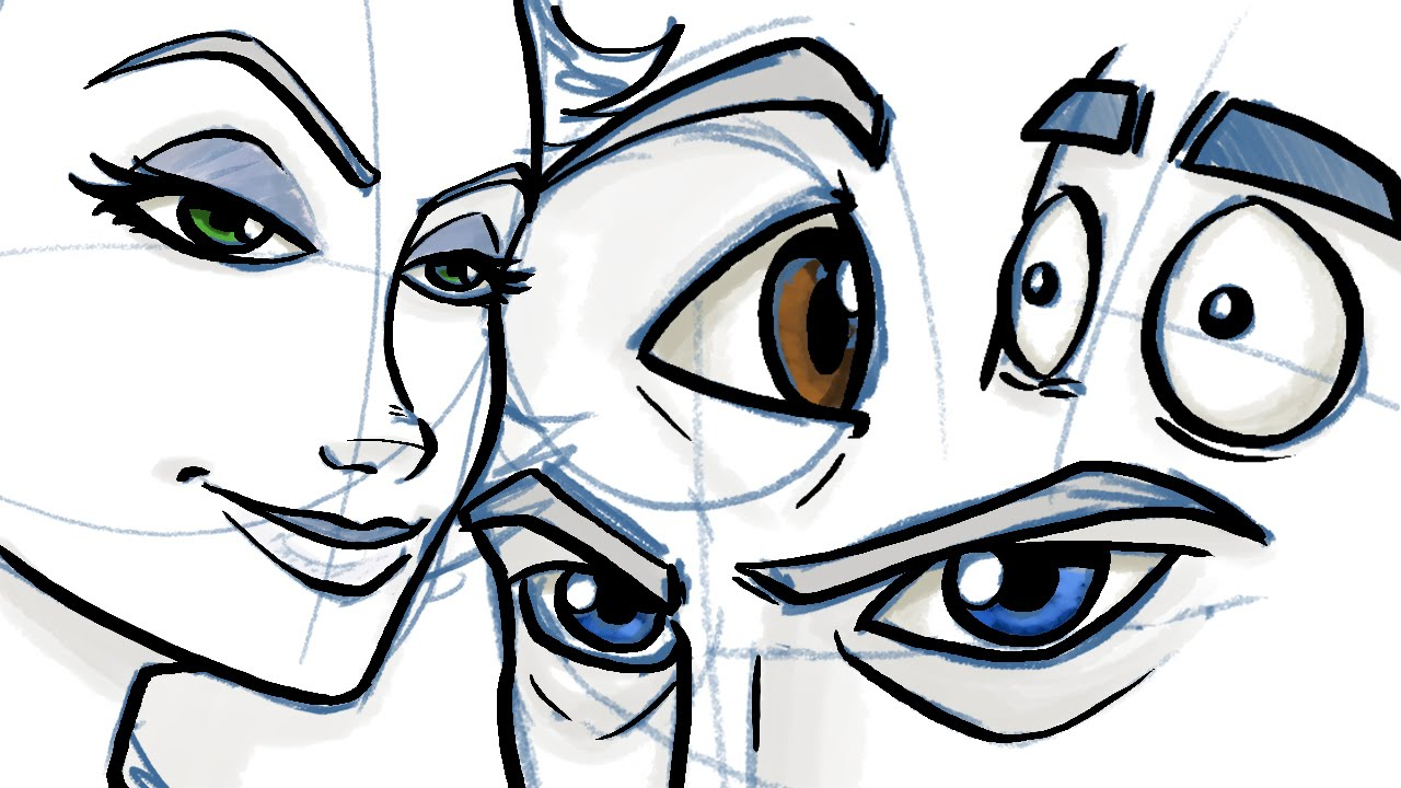 1280x720 How To Draw Eyes For Comic And Cartoon Characters