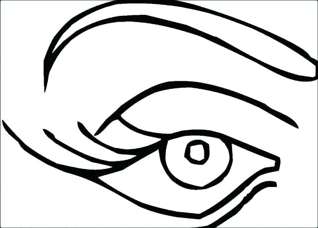 644x462 Eye Coloring Pages Anime Eyes Coloring Pages Eye