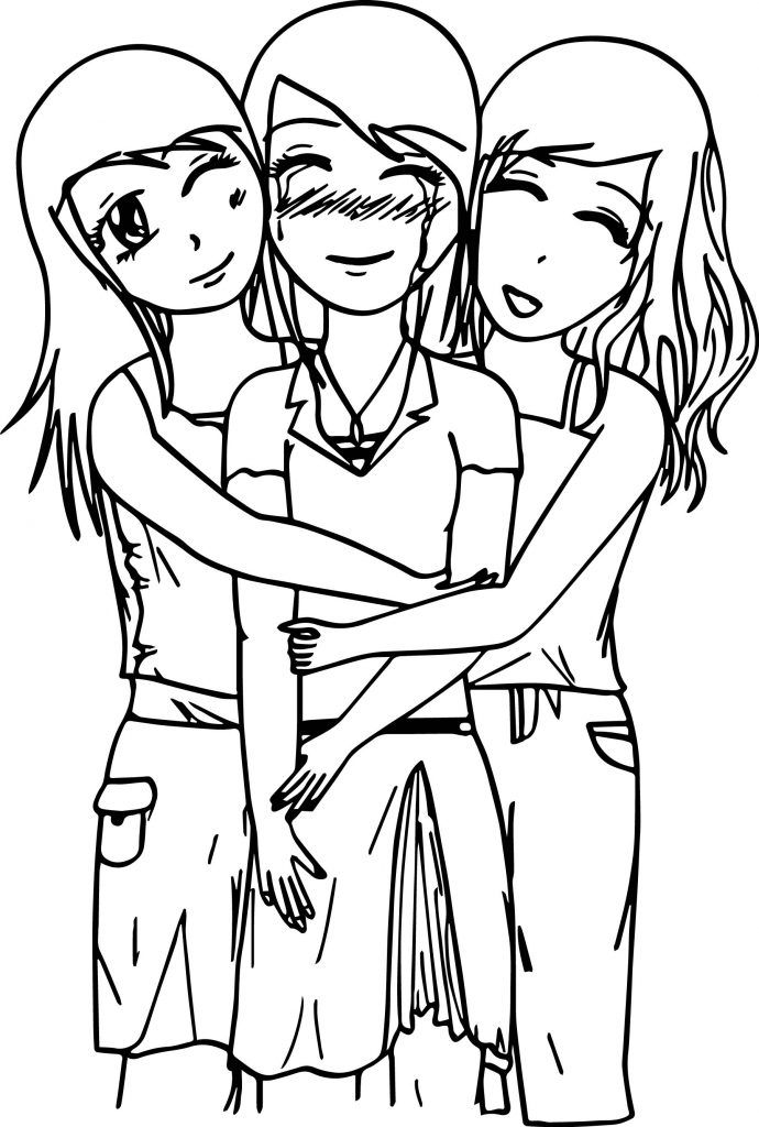 690x1024 Best Friends Coloring Pages Miscellaneous Coloring Pages