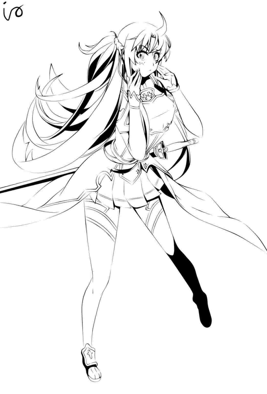 1092x1612 anime girl drawing full body easy