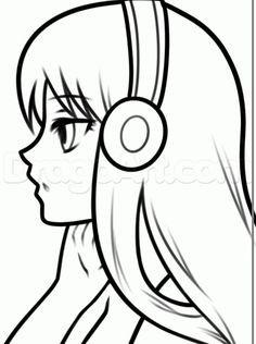 Drawings Of Girls Hair Easy