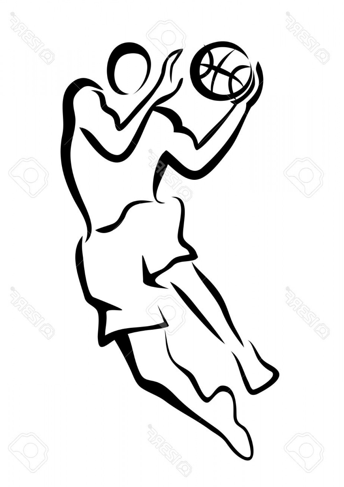 1101x1560 basketball player anime drawing nba a girl cartoon dunking