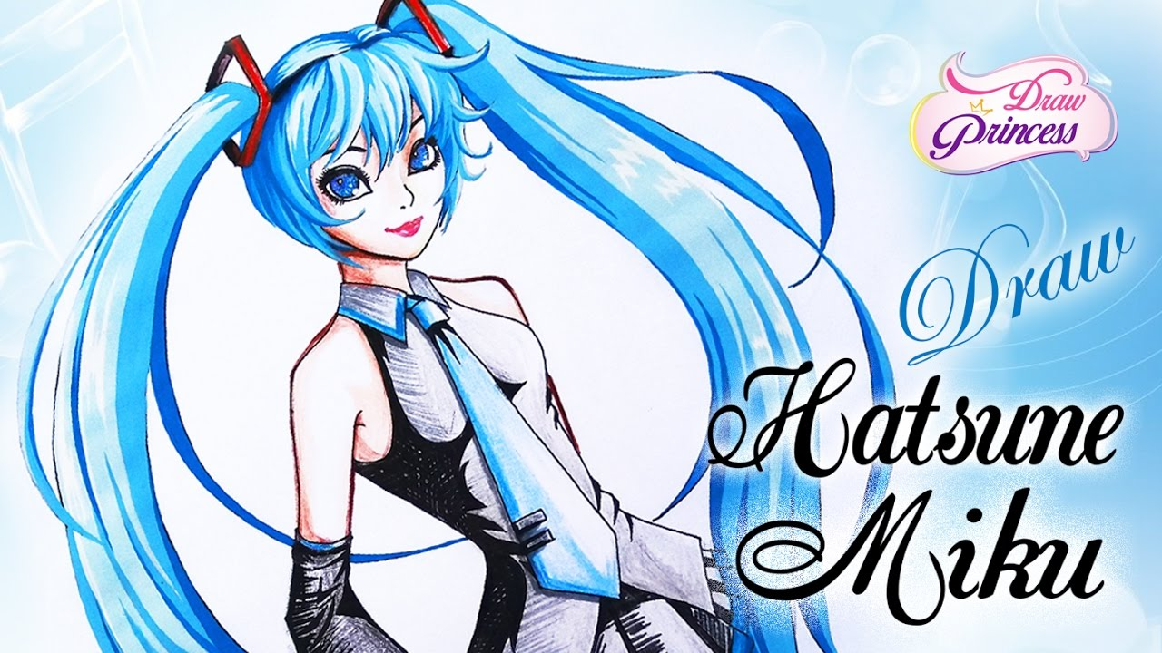 1280x720 How To Draw Hatsune Miku Vocaloid Step