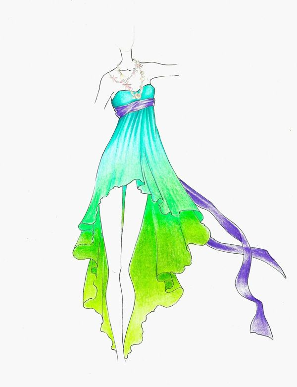 600x781 Disney Princess Fashion Sketches Inspired