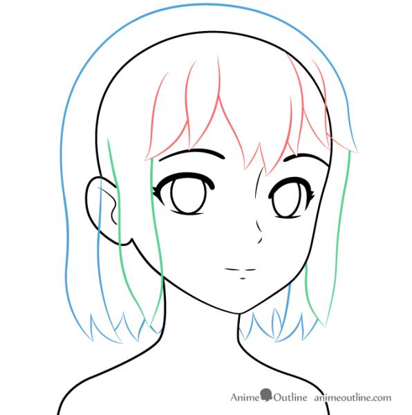 596x600 Anime Girl Drawing