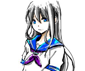 300x250 Anime School Girl