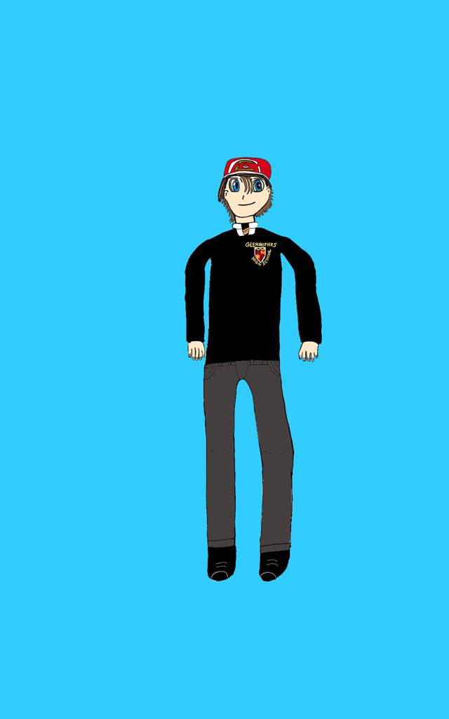 640x1024 Me In My Glenrothes High School Uniform But In Anime Style Drawing