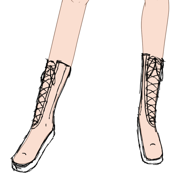 Anime Shoes Drawing