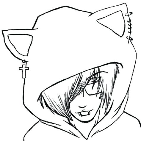 Anime Wolf Drawings   Free download on ClipArtMag