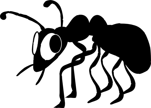 600x428 Cartoon Ant Silhouette Clip Art Free Vector In Open Office Drawing