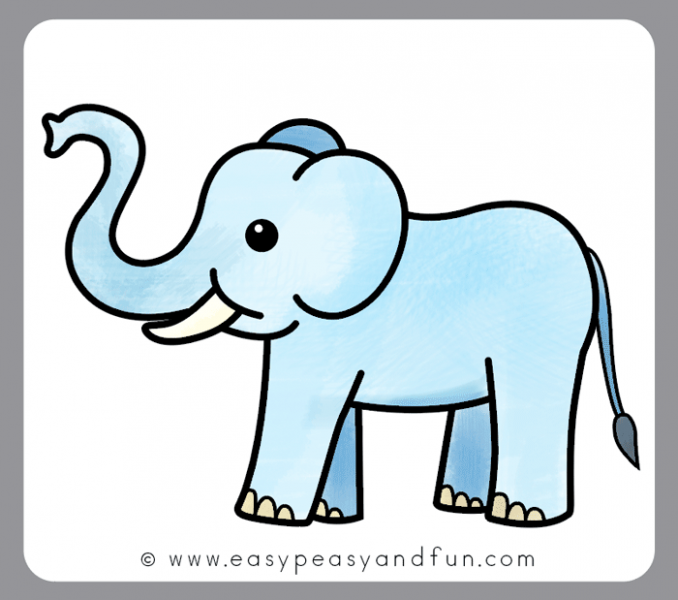 678x600 Elephant Drawing For Coloring New Elephant Drawing For Coloring