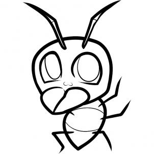 302x302 How To Draw How To Draw An Ant For Kids