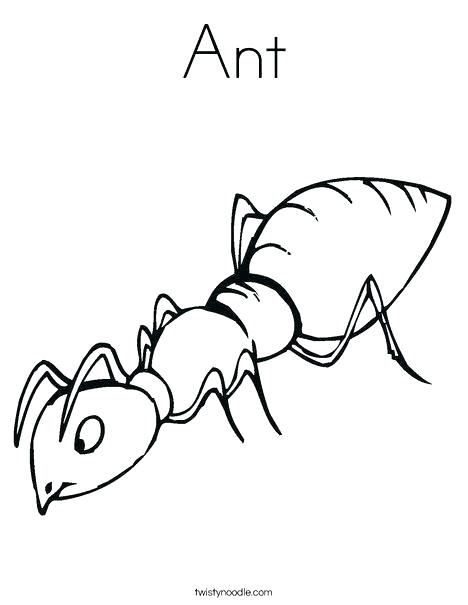 468x605 Fire Ant Coloring Pages