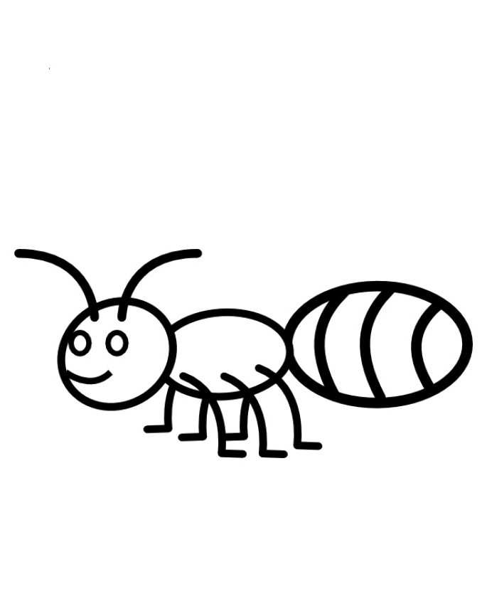 685x828 Ant Drawing For Kids