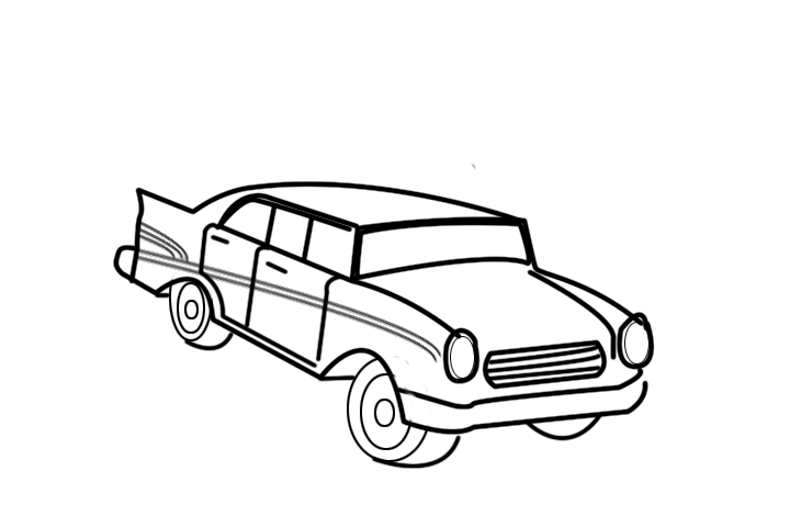 720x480 Automotive Drawing Old Car For Free Download