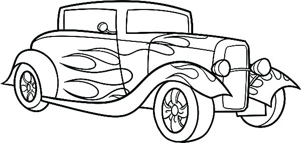 600x287 classic car coloring pages classic car coloring pages car coloring