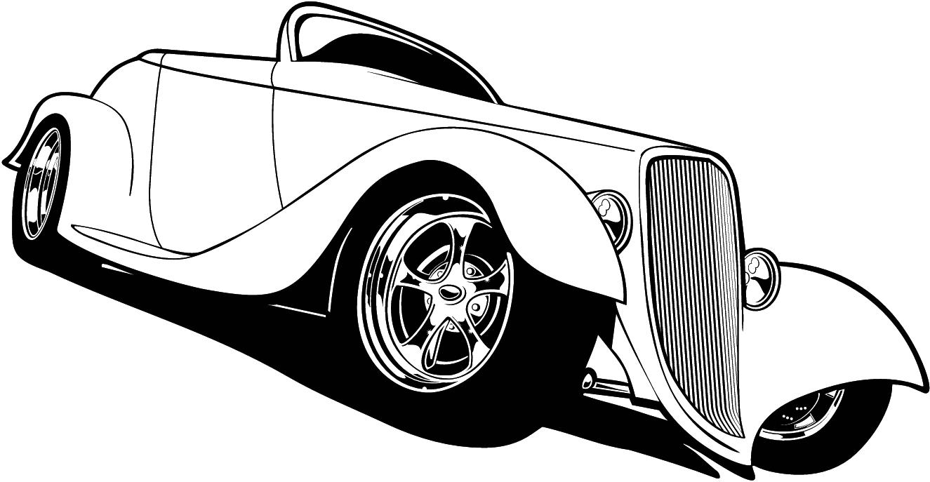 1325x687 Free Cartoon Hot Rod Car Clipart