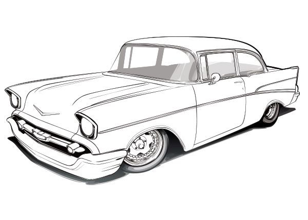 600x429 New Antique Truck Coloring Pages