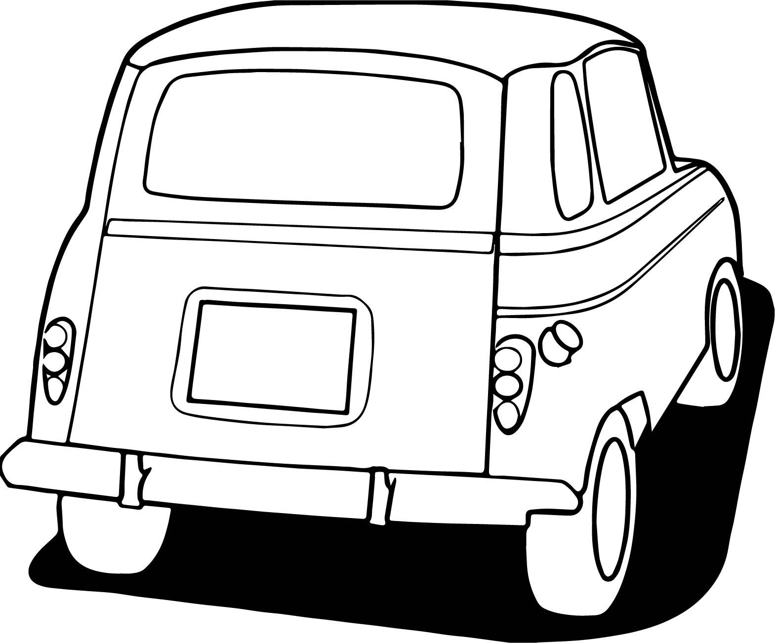 1569x1302 Vintage Antique Car Back Side Coloring