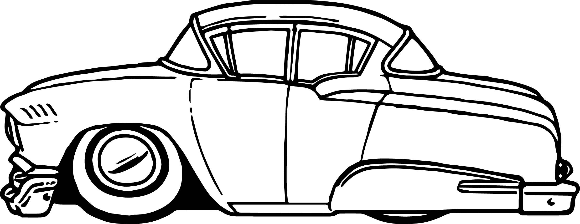 2432x940 Vintage Antique Car Vacation Coloring