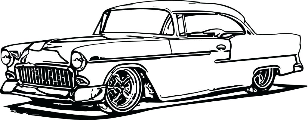 1024x399 Vintage Car Coloring Pages Muscle Car Old Car Coloring Pages