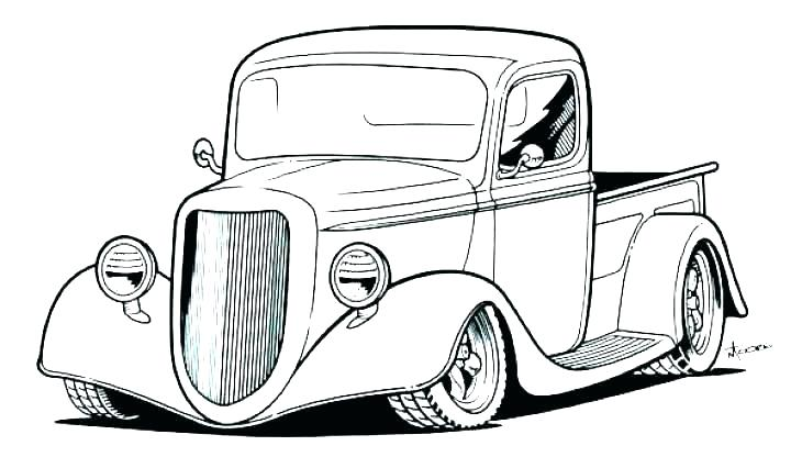 730x416 Best Ideas Of Classic Car Coloring Pages Free Printable Car