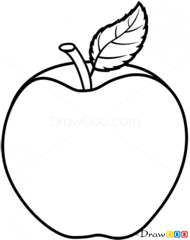 Apple Drawing Images