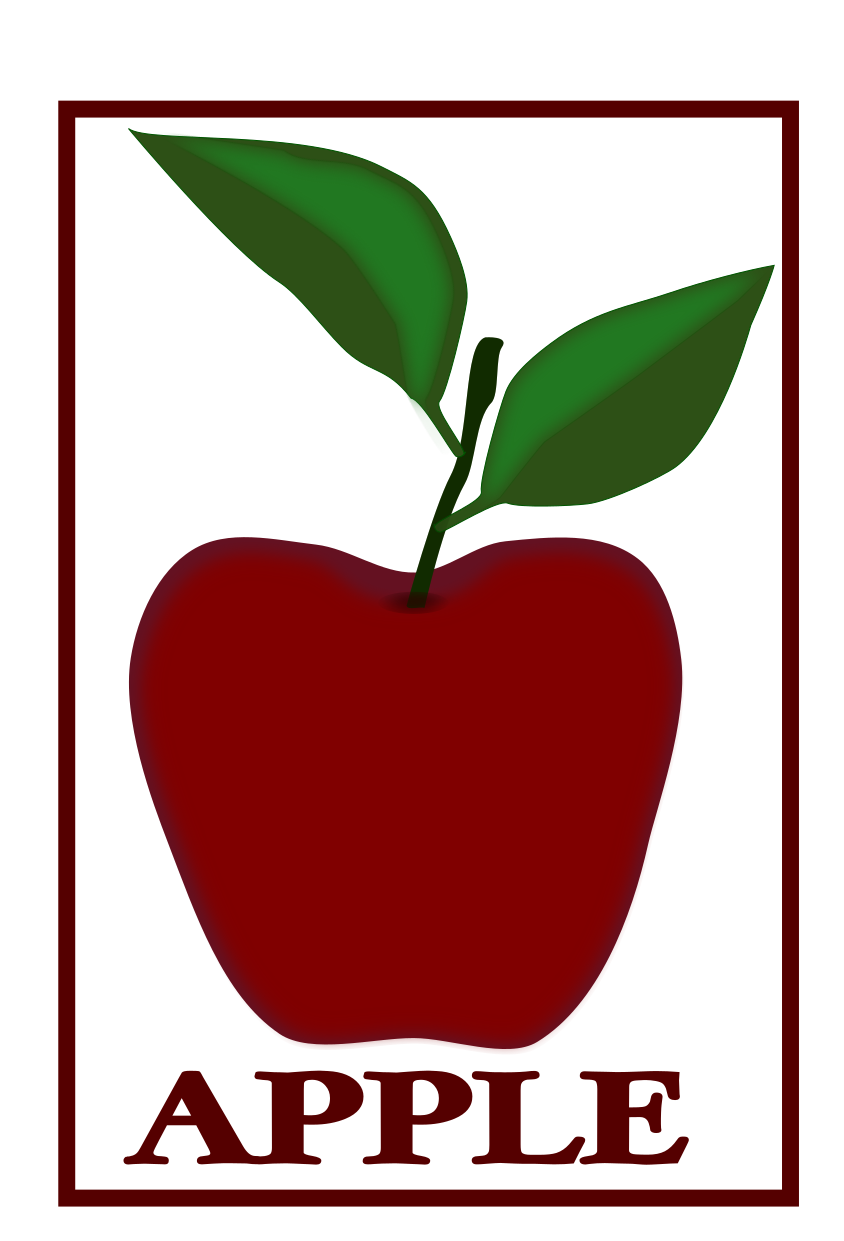 844x1241 drawing lineart apple fruit in lineart and colour anino