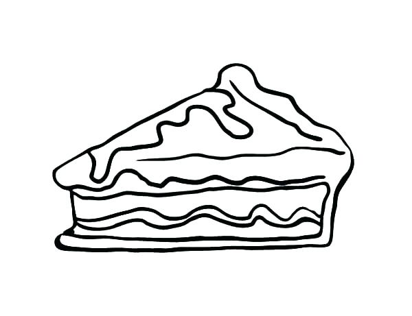 600x461 piggie pie coloring pages pie coloring pages slice apple pie cake