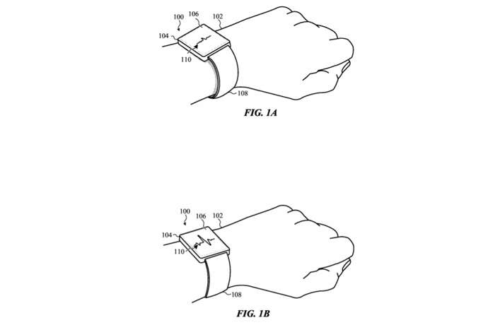 690x460 Apple's New Patent Reveals Self Adjusting Apple Watch Bands