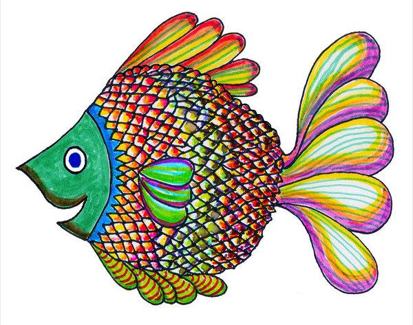 600x473 Aquarium Fish Drawings