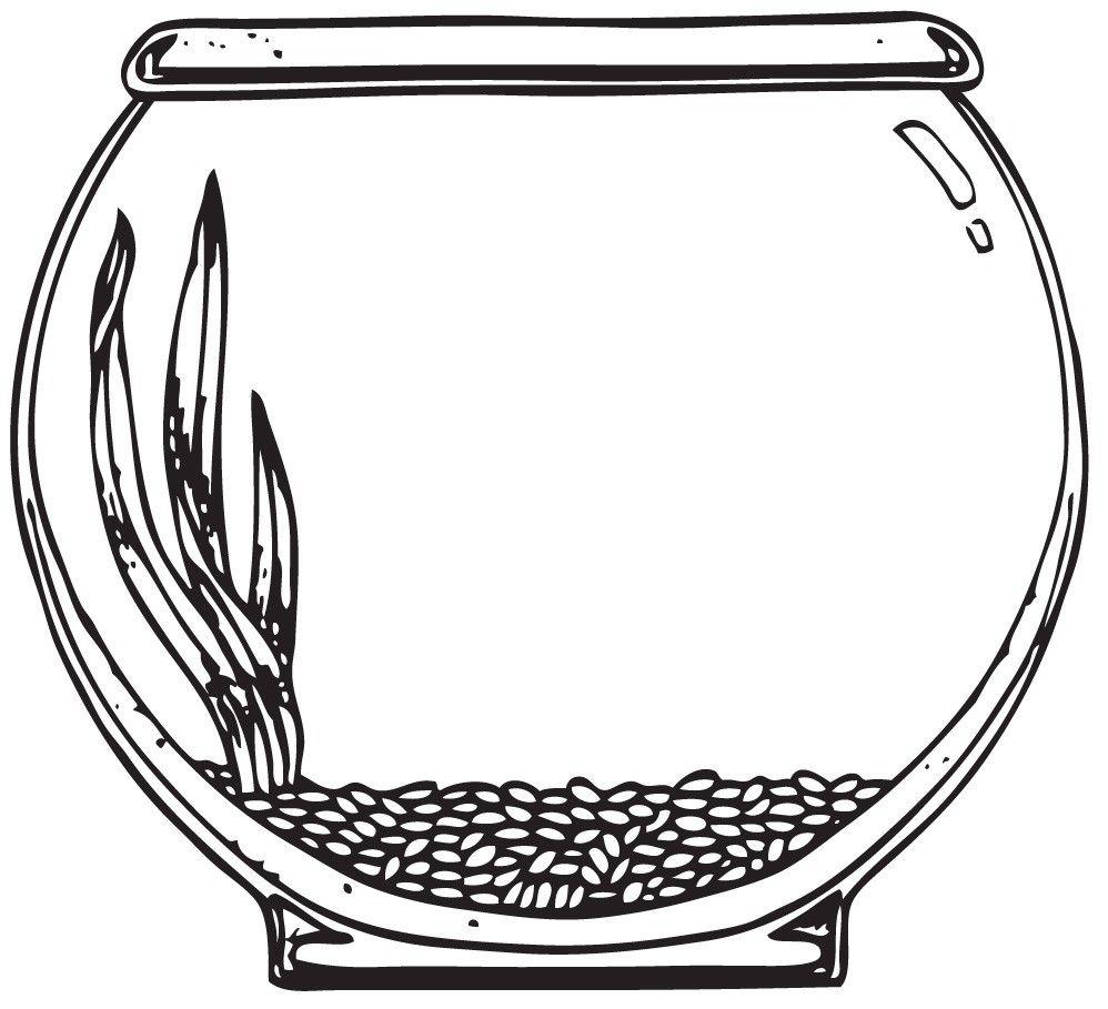 998x909 Aquarium Drawing Fish Bowl For Free Download